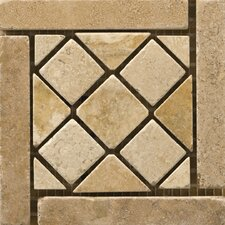 "<strong>Emser Tile</strong> Natural Stone 4"" x 4"" Travertine Vino Listello Corner in Arneis"
