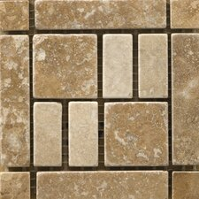 "Natural Stone 4"" x 4"" Travertine Vino Listello Corner in Barbera"