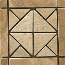"Natural Stone 4"" x 4"" Travertine Vino Listello Corner in Freisa"