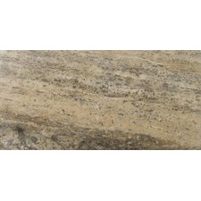 "<strong>Emser Tile</strong> Natural Stone 12"" x 24"" Vein Cut Travertine Plank Tile in Silver"
