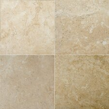 "Natural Stone 16"" x 16"" Crosscut Travertine Tile in Dore Antique"