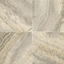 "Natural Stone 12"" x 12"" Crosscut Travertine Tile in Silver"