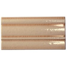 "<strong>Emser Tile</strong> Cape Cod 9"" x 5"" Crown Base Molding Tile Trim in Antique Beige Crackle"
