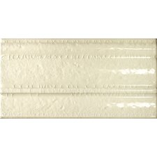 "Cape Cod 9"" x 5"" Crown Base Molding Tile Trim in Artisan Cream Crackle"