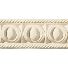 "Cape Cod 9"" x 4"" Park Accent Tile in Ivory Matte"