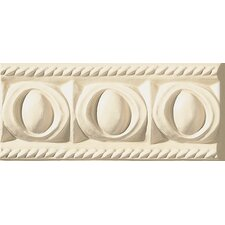 "Cape Cod 9"" x 4"" Park Stop Accent Tile in Ivory Matte"