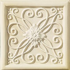 "Cape Cod 6"" x 6"" Meadow Accent Tile in Ivory Matte"