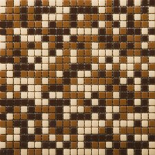 """Image 1/2"""" x 1/2"""" Glass Glossy Mosaic in Reflection Blend"""
