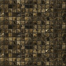"Natural Stone 12"" x 12"" Polished Marble Mosaic in Emperador Dark"