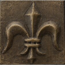 "Renaissance 2"" x 2"" Corsica Insert Tile in Antique Bronze"