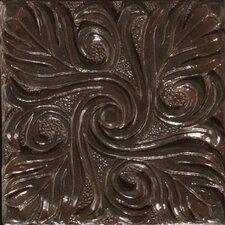 "Renaissance 4"" x 4"" Bari Accent Tile in Rust Iron"