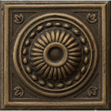 "Renaissance 2"" x 2"" Pompei Insert Tile in Antique Bronze"