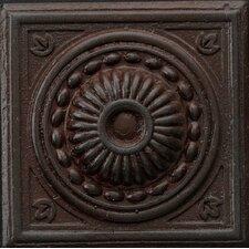 """Renaissance 2"""" x 2"""" Pompei Insert Tile in Rust Iron"""