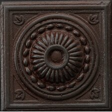 "Renaissance 4"" x 4"" Pompei Accent Tile in Rust Iron"