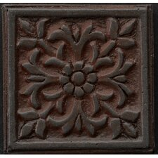 "Renaissance 2"" x 2"" Roma Insert Tile in Rust Iron"