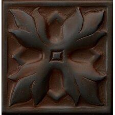 """Renaissance 2"""" x 2"""" Sicily Insert Tile in Rust Iron"""