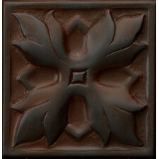"Renaissance 4"" x 4"" Sicily Accent Tile in Rust Iron"