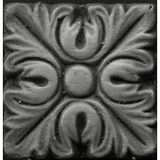 "<strong>Emser Tile</strong> Renaissance 2"" x 2"" Torino Insert Tile in Antique Nickel"