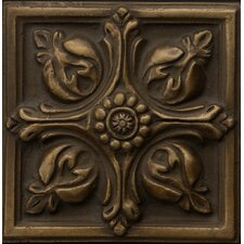 "Renaissance 4"" x 4"" Toscana Accent Tile in Antique Bronze"