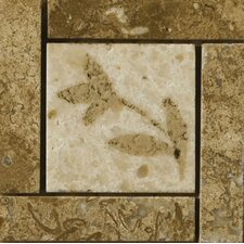 "4"" x 4"" Segovia Travertine Listello Corner"