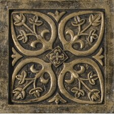 "Camelot 4"" x 4"" Guinevere Deco in Bronze"