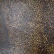 """Paseo 13"""" x 13"""" Glazed Ceramic Floor Tile in Marrone"""