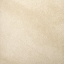 "St Moritz 18"" x 18"" Glazed Floor Porcelain Tile in Ivory"