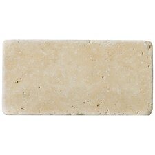 "Natural Stone 3"" x 6"" Fontane Travertine Tile in Ivory Classic"