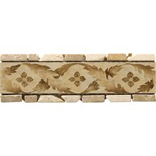 "Natural Stone 12"" x 4"" Arena Travertine Listello"