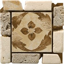 "Natural Stone 4"" x 4"" Arena Travertine Listello Corner"