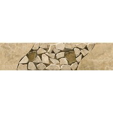 "Natural Stone 12"" x 3"" Campania Travertine Listello"