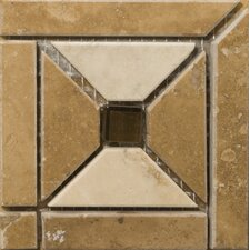 "Natural Stone 4"" x 4"" Faloria Travertine Listello Corner"