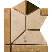 "Natural Stone 4"" x 4"" Mietres Travertine Listello Corner"