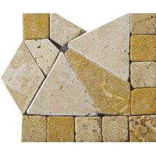 "Natural Stone 4"" x 4"" Schema Pisa Travertine Listello Corner"