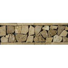 """Natural Stone 12"""" x 4"""" Broccato Travertine Listello"""