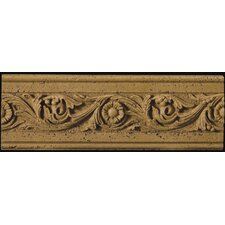 "Natural Stone 12"" x 4"" Romansa Tralcio Travertine Molding in Noce"