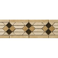 "<strong>Emser Tile</strong> Natural Stone 12"" x 4"" Sorapis Travertine Listello"