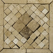 "Natural Stone 6"" x 6"" Tholos Travertine Listello Corner"