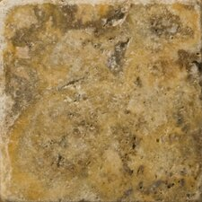 "Natural Stone 4"" x 4"" Fontane Travertine Tile in Ivory Classic"