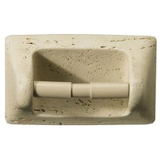 Natural Stone Recessed Villa Romansa Travertine Toilet Paper Holder