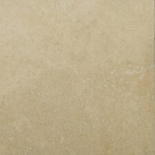 "Natural Stone 6"" x 6"" Fontane Travertine Tile in Ivory Classic"