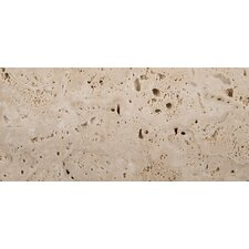 "Natural Stone 3"" x 6"" Cottage Tumbled Travertine in Ivory"