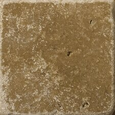 "Natural Stone 6"" x 6"" Cottage Tumbled Travertine in Noce"