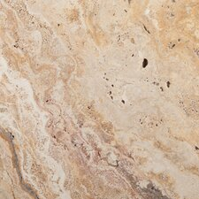 "Natural Stone 16"" x 16"" Chiseled Travertine Field Tile in Scabos"