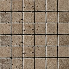 "Natural Stone 12"" x 12"" Fontane Travertine Mosaic in Walnut"