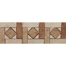 "Agra 13"" x 4"" Glazed Porcelain Tile Listello in Multicolor"