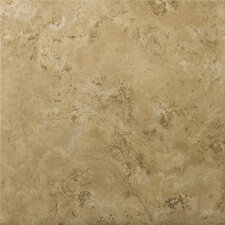 "Cordova 17"" x 17"" Glazed Ceramic Tile in Noce"