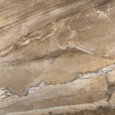 "Eurasia 13"" x 13"" Glazed Porcelain Tile in Noce"