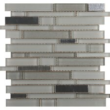 "Flash 13"" x 12"" Glass Mosaic in Bright"