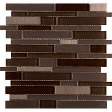"<strong>Emser Tile</strong> Flash 13"" x 12"" Glass Mosaic in Illuminated"